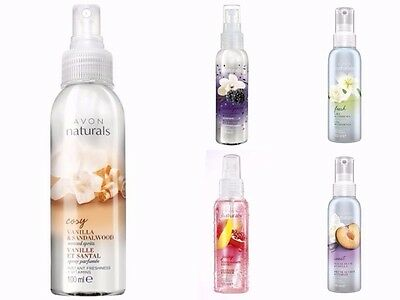 5 X Avon Naturals Scented Spritz Room/Linen Spray 100ml Each, Mixed Listed