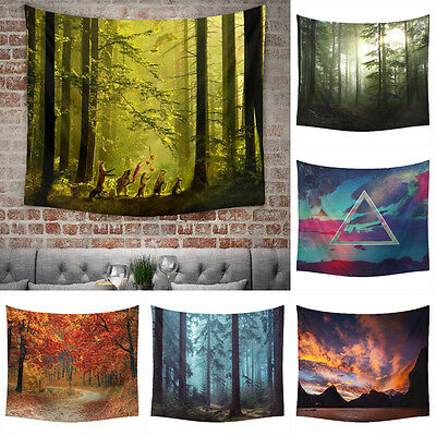 Natural Forest Tapestries Wall Hanging Tapestry Hippie Bedspread Home Dorm Decor