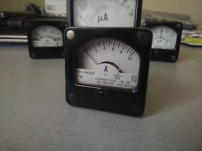 NEW RUSSIAN Vintage Military Panel Meter 0-10A M4203 Made in CCCP 1975