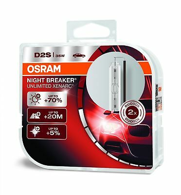 OSRAM D2S XENARC® NIGHT BREAKER® UNLIMITED Xenon-Lampen Duo Box 66240XNB-HCB