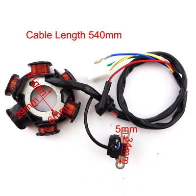 6 Poles Stator Magneto For GY6 139QMB 50cc Engine Go Kart Moped Scooter ATV Quad