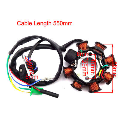 8 Poles Ignition Stator Magneto For GY6 157QMJ 125cc 150cc Go Kart Scooter ATV