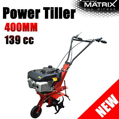 4 Stroke Engine Tiller Cultivator Rotary Hoe Rear Tine Commercial Petrol 139cc
