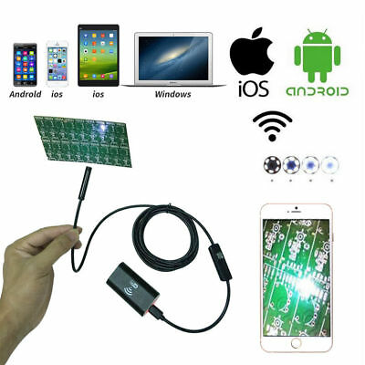 5M 6Leds 8mm IP67 720P Wifi Wireless iOS iPhone Android Borescope Endoscope Cam