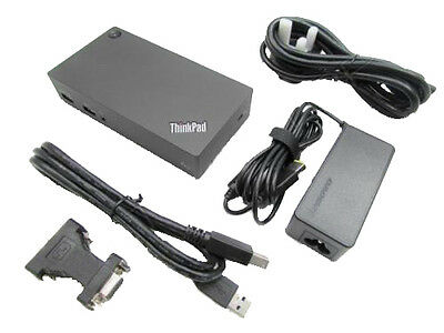 Lenovo ThinkPad 40A7 DK1522 USB 3.0 Port Replicator Docking Station Inc PSU
