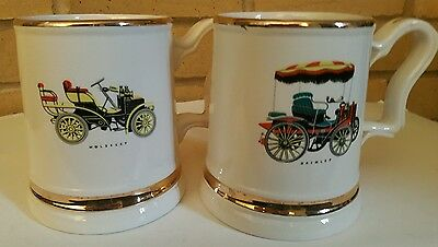2 x PRINCE WILLIAM TANKARDS ~ DAIMLER AND WOLSELEY MOTOR CARS