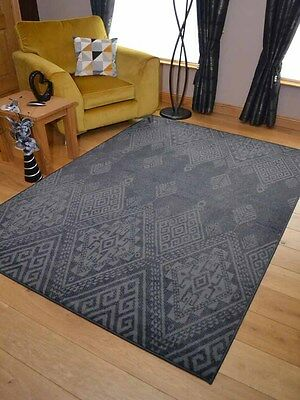 Light Dark Grey Faded Small Extra Large Big Huge Size Floor Carpet Rug Mat Cheap