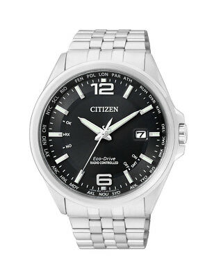 NEW Citizen Mens Stainless Steel Eco-Drive Radio Controlled Watch - CB0010-88E