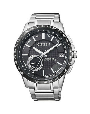 NEW Citizen Mens Stainless Steel Eco-Drive Satellite Wave Watch - CC3005-51E
