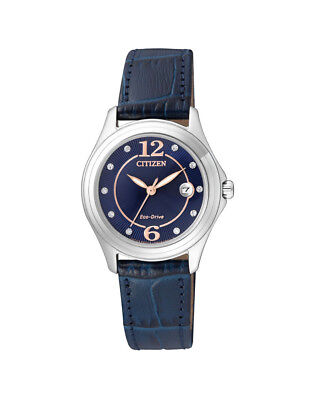 NEW Citizen Ladies Stainless Steel Eco-Drive Swarovski Casual Watch - FE1130-04L