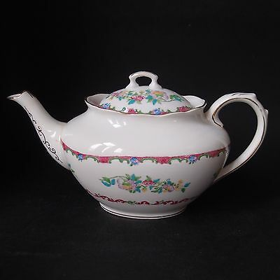Vintage 1920s Royal Albert 'Rose-Marie' Teapot  -1 Ltr  - Hand painted - Rare
