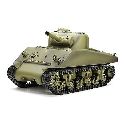 1:16 US M4A3 Sherman RC Battle Tank Airsoft Smoke & Sound 2.4GHz Remote Control