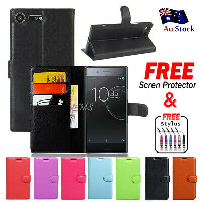 For Sony Xperia XZ Premium PU Leather Wallet Card Pocket Flip Case Cover