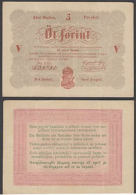 Hungary 5 Forint 1848 (VF+) Condition Banknote P-S116