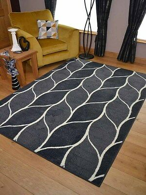 Silver Grey Funky Small Extra Large Big Huge Size Floor Carpet Rugs Mat UK Cheap