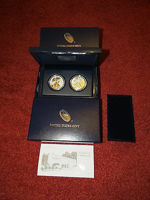 USA 2013 West Point Two-Coin/2-Münzen-Set American Eagle Silver Silber
