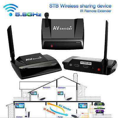 Wireless 5.8GHz 300M HDMI 1080P in AV Sender TV Transmitter Receiver Audio Video