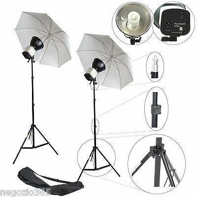 Illuminatore Studio Foto Video Lampada Luce DayLight KIT 150W + Ombrello Stativo