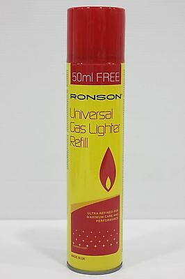 Ronson Butane Gas Lighter Fluid 300ml/ronson flint-( QUALITY GAS REFILL)