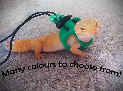 Leopard Gecko Harness Leash Reptile Rat Lizard Hamster Sugar Glider Crested