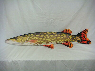 Gaby Novelty Gift Giant Pike Fishing Pillow / Cushion