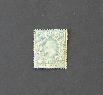 Somaliland Protectorate 1909 KEVII ½a used WMK3 bluish grn Sc 49