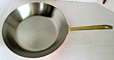 "Paul Revere Skillet Sauté Pan 10 1/2"" Copper Stainless Steel & Brass 1976"