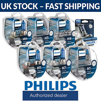 Philips Diamond Vision Upgrade Headlight Bulbs H1 H4 H7 H11 HB3 HB4