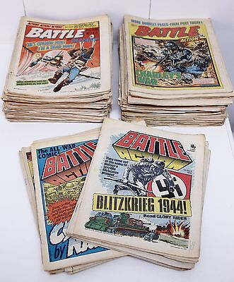 +120 BATTLE Valiant/Action British Weekly Magazine from 1977 to 1983