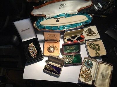 Large  Vintage Job Lot Of Costume Jewellery And Other Items