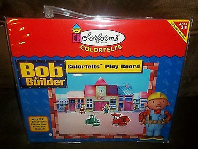 NEW Colorforms BOB the BUILDER Colorfelts & Play Board MUCK Roley WENDY Dizzy +