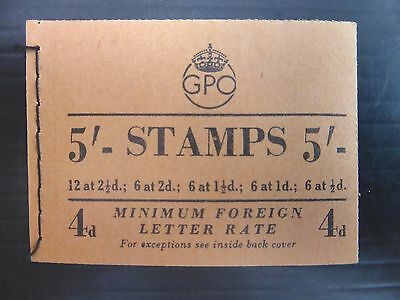 GB 1953 May 5/- Complete Booklet H1 NB1243
