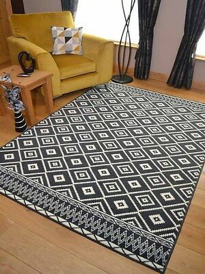 Grey Cream Diamonds Small Extra Large Big Huge Size Floor Carpet Rugs Mat Cheap