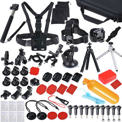 104 Accessories Pack Bike Mount Head Chest Selfie Stick For GoPro Hero 5 4 3+ 3