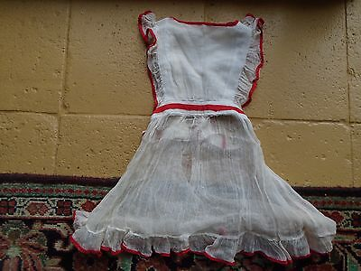 Antique  Hand Made Early 20Th Century  Girls Muslin Over Dress