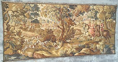 Antique French Tapestry  Hunting scen 74 By 155 Cm