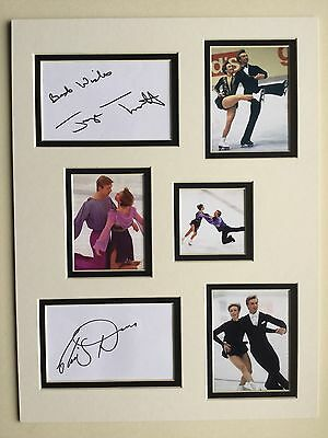 Ice Skating Jayne Torvill & Christopher Dean Signed 16x12 Double Mounted Display