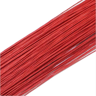 50PCS Red #22 Paper Covered Wire DIY Nylon Stocking Flower Making