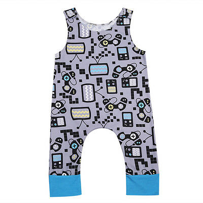 Infant Toddler Baby Girl Boy Sleeveless Casual Outfits Cartoon Romper One-piece