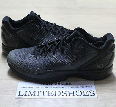 ad82d4840e61 NIKE ZOOM KOBE VI 6 ID BLACK OUT 446897-992 US 10.5 grinch all star ...