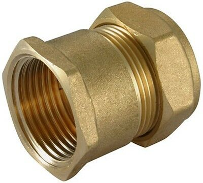 "54mm x 2"" Inch Female Iron Straight Adapter Compression Coupling Coupler Brass"