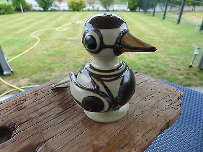 Rare Abstract Pottery Bird by Erling & Karin Heerwagen 1978