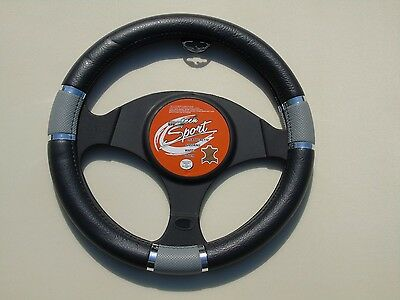 i - TO FIT AN ISUZU BLADE, STEERING WHEEL COVER, SWC P 20 M, BLACK / GREY