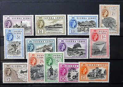 SIERRA LEONE 1956 to £1 SG210-222 Mounted Mint NB1267