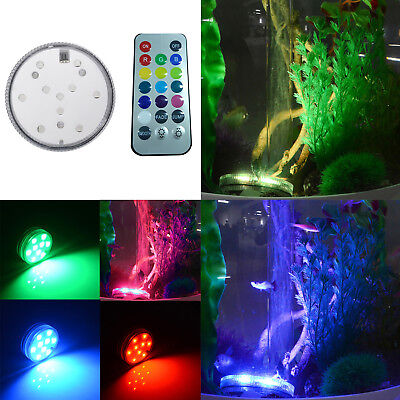 RGB Led Light Multi Color Submersible Waterproof for Wedding Vase Party+ Remote