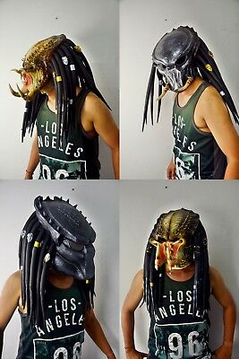 Predator Rubber Latex Mask Halloween AVP Cosplay Costume High Detail Top Quality