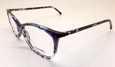 CHANEL 3281 1491 Women Eyeglasses Violet Blue Multicolor Square Italy BE21/21