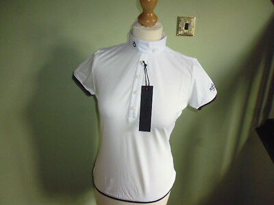 Cavalleria Toscana Ladies Technical Polo Competition Show Shirt white