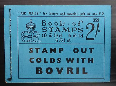 GB 1936 Ed.VIII - 2/- Booklet Edition 359 - BC2 with Creme SEE BELOW NB1284