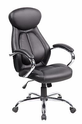 Chair Gaming Racing Office High Back Pu Desk Black Computer Style Seat Executive